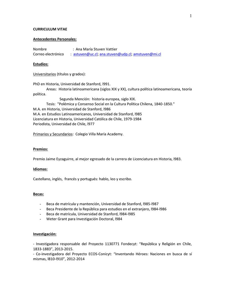 CURRICULUM VITAE - Instituto de Investigación en Ciencias Sociales