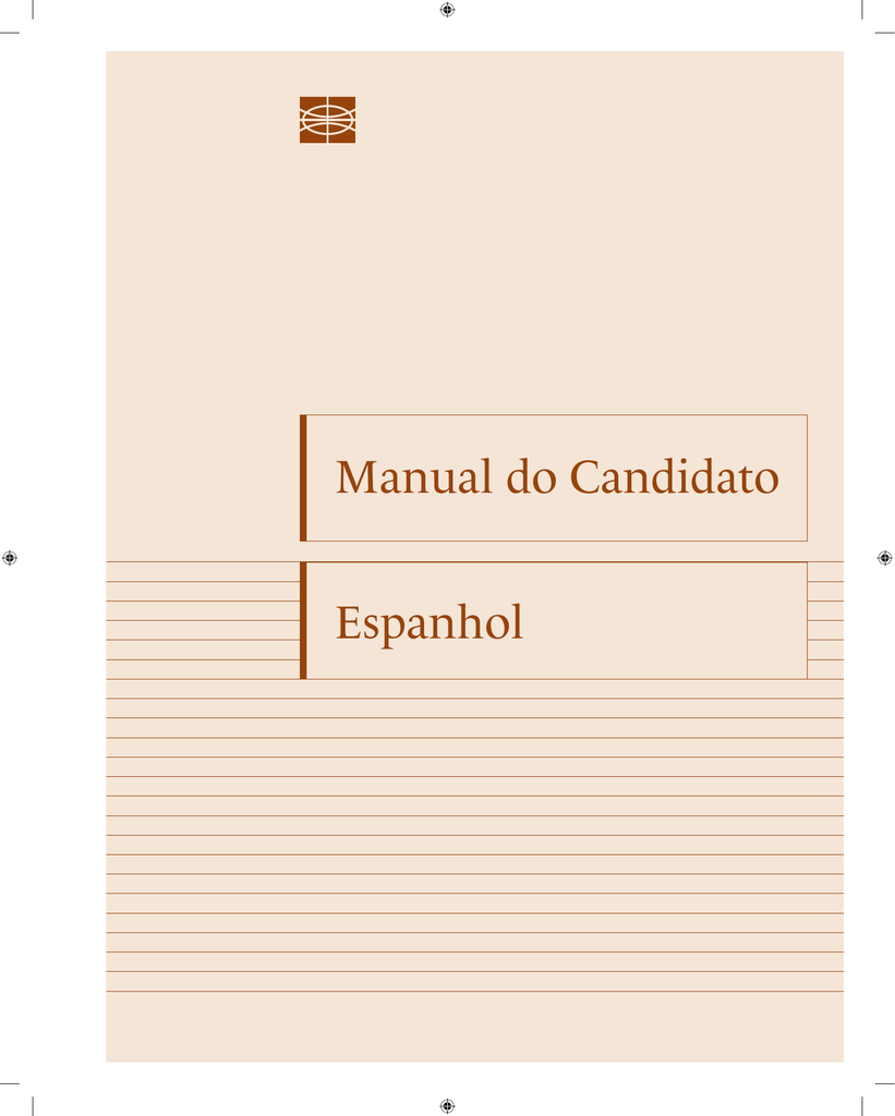 Espanhol Manual Do Candidato