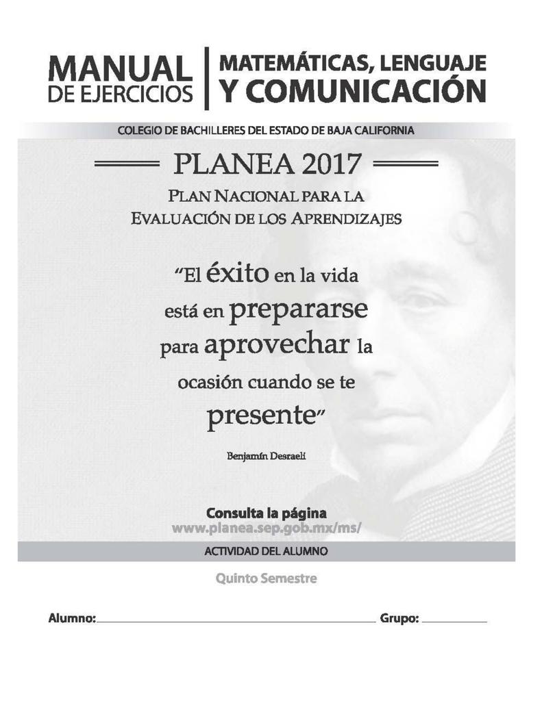 Hacia PLANEA 2017 2016-2 - Alumnos