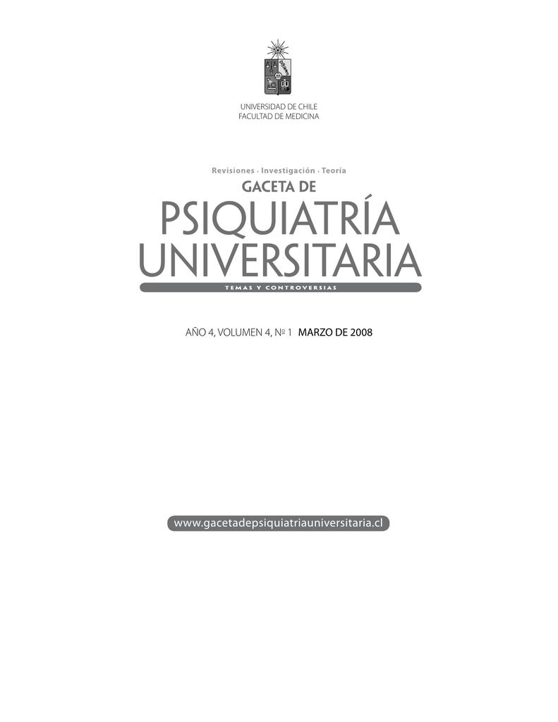 Psicología - Gaceta de Psiquiatría Universitaria