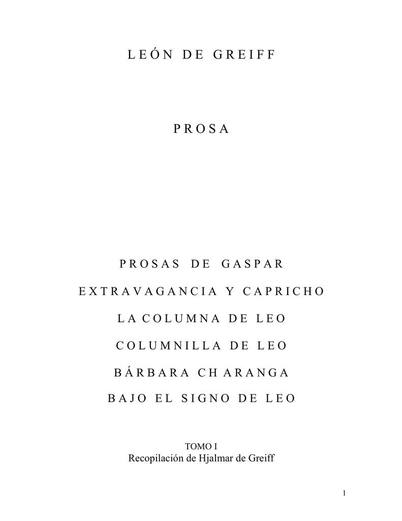 Prosas De Gaspar Actividad Cultural Del Banco De La República