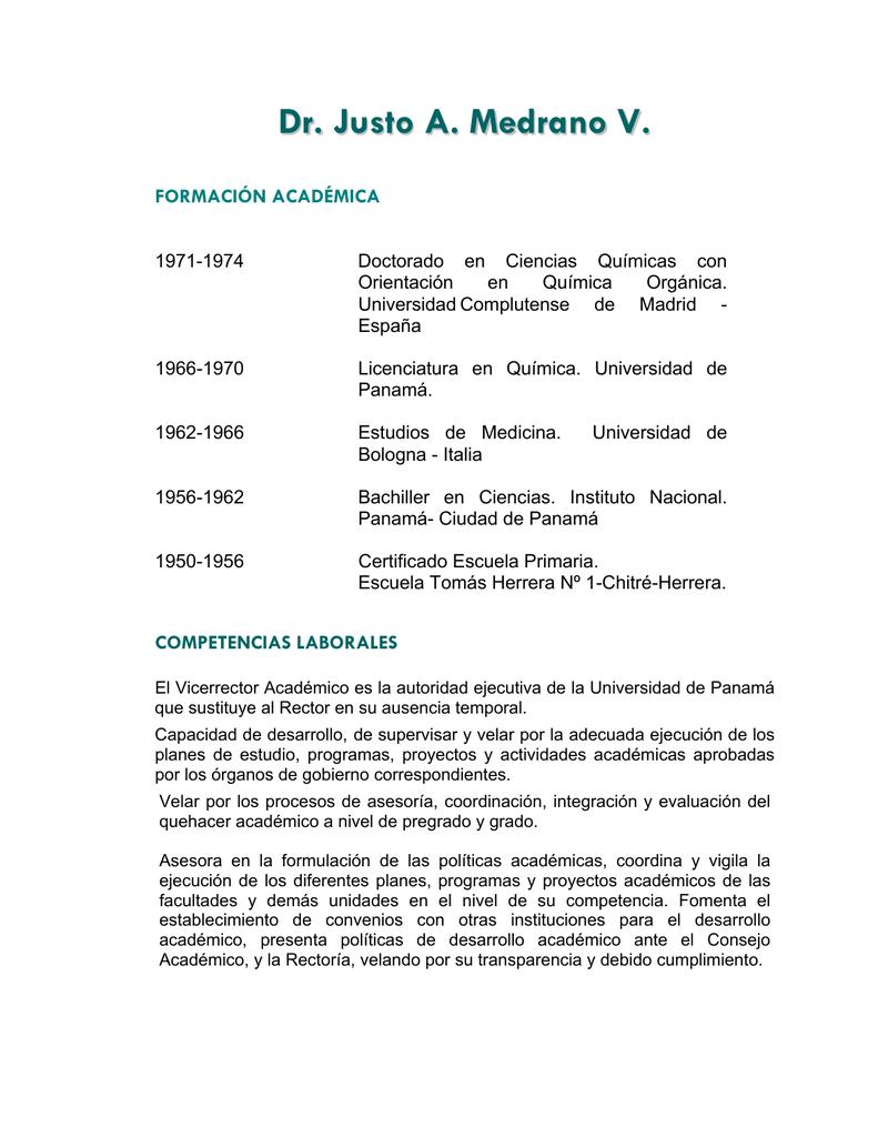CURRICULUM VITAE - Universidad de Panamá
