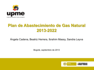 Escenarios de demanda de gas natural