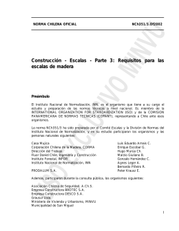 Construcción - Escalas - Parte 3: Requisitos para las