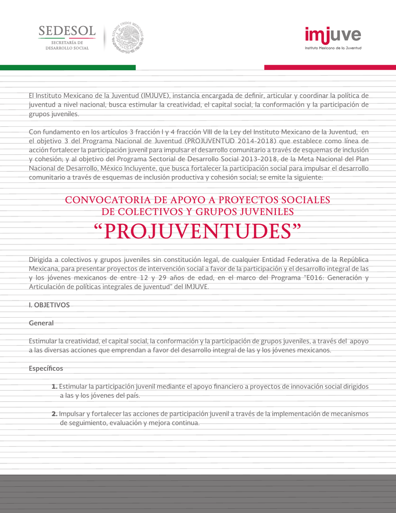 Projuventudes - Instituto Mexicano de la Juventud