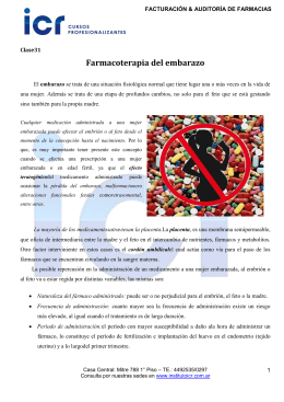 Farmacoterapia del embarazo
