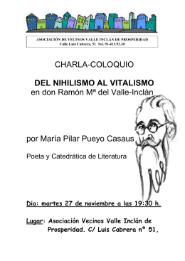Cartel nihilismo valle Inclan