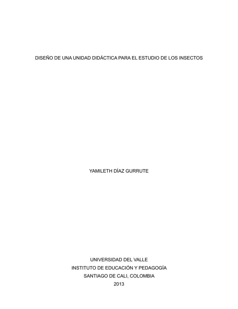 diseño de una unidad didáctica para el estudio de los insectos