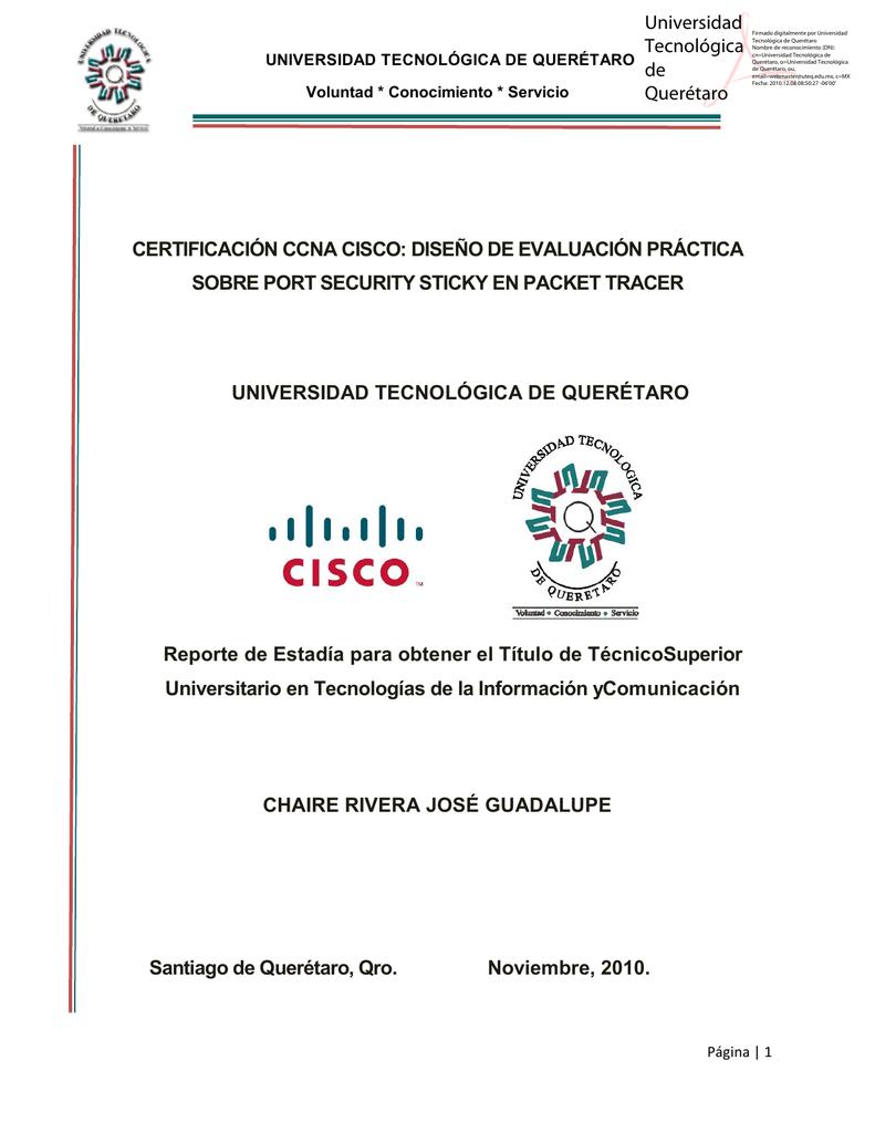 certificación ccna cisco: diseño de evaluación práctica sobre