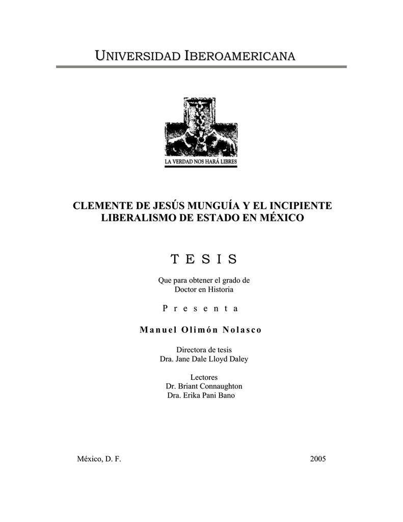 Clemente De Jesús Munguía Y El Incipiente Liberalismo De Estado