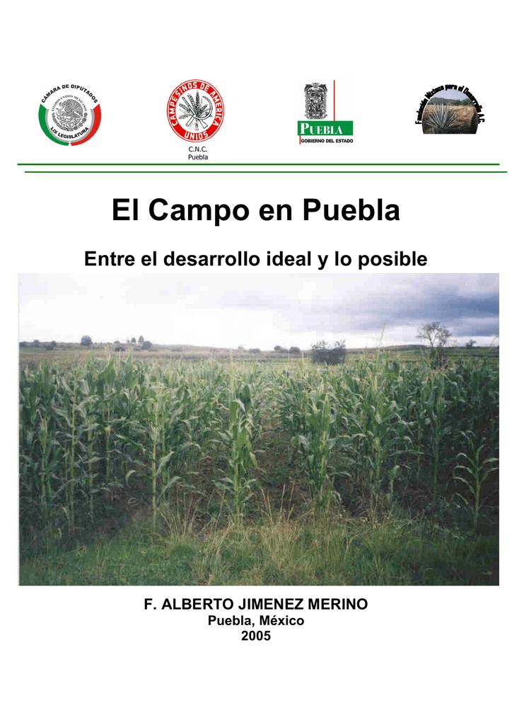 f5f398c5f C.N.C. Puebla El Campo en Puebla Entre el desarrollo ideal y lo posible F.  ALBERTO JIMENEZ MERINO Puebla, México 2005 GOBIERNO DEL ESTADO DE PUEBLA  Lic.