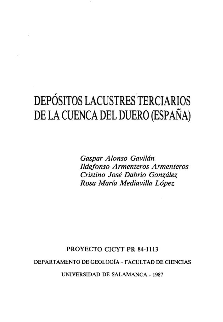 Depósitos Lacustres Terciarios De La Cuenca Del Duero España