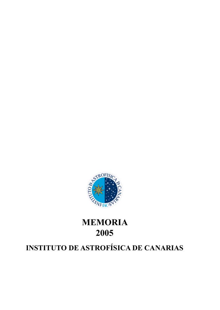 memoria 2005 - Instituto de Astrofísica de Canarias