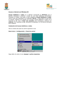Tutorial de acceso a Internet con Windows 95