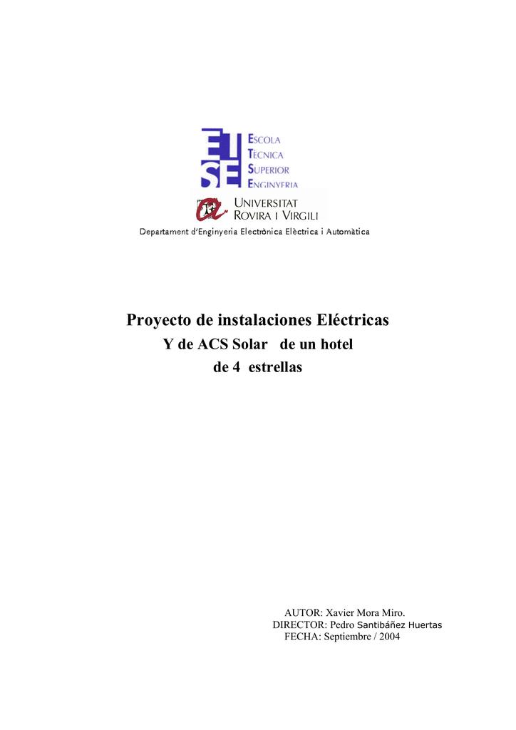 Proyecto de instalaciones Eléctricas