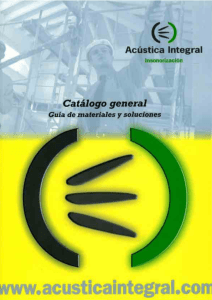 Catalogo ACUSTICA IN..