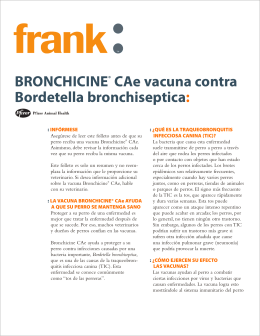 BRONCHICINE® CAe vacuna contra Bordetella