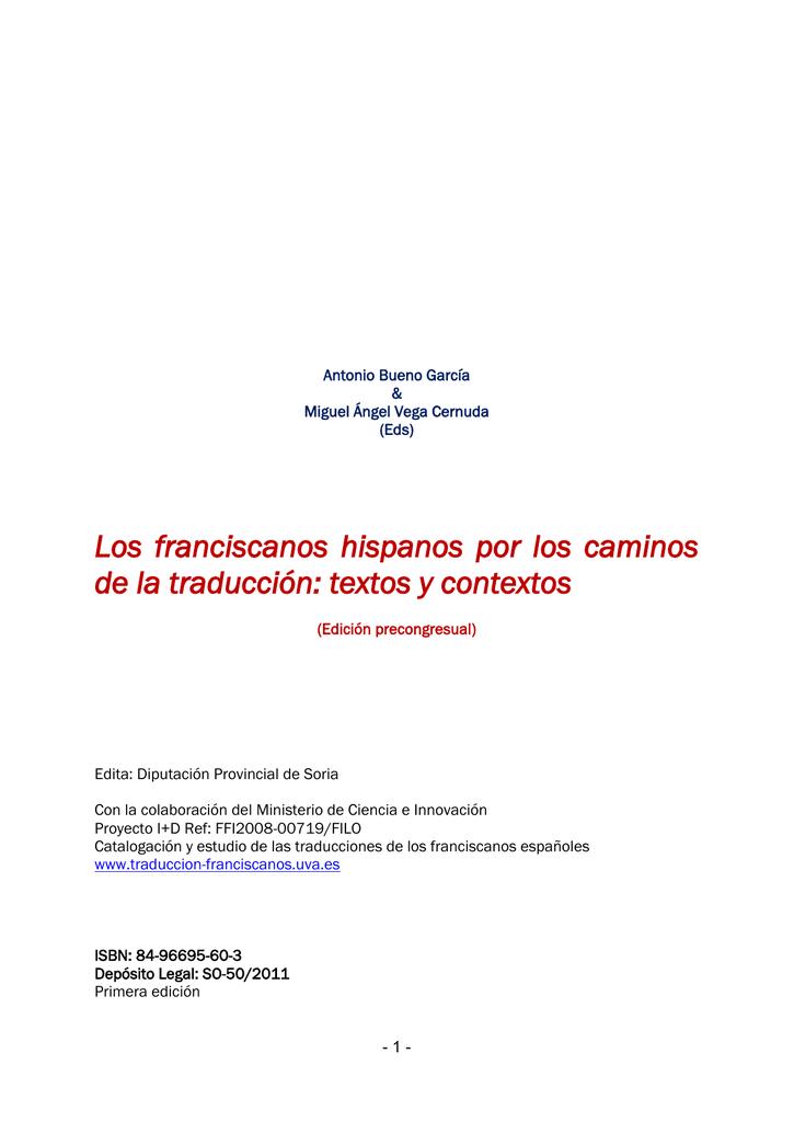 Los Franciscanos Hispanos Por Los Caminos De La Traducción