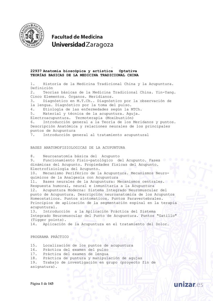 Plan de Estudios 2002 - Universidad de Zaragoza