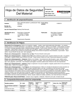 Rust-Oleum ANSI 16 Section MSDS