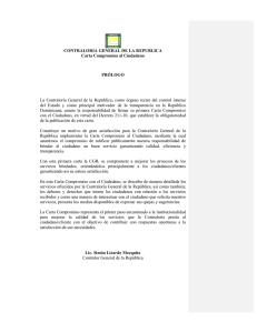 CONTRALORIA GENERAL DE LA REPUBLICA Carta