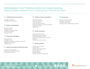 diplomado post producción de video digital