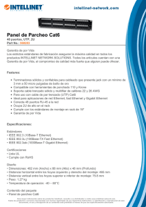 Panel de Parcheo Cat6 - produktinfo.conrad.com