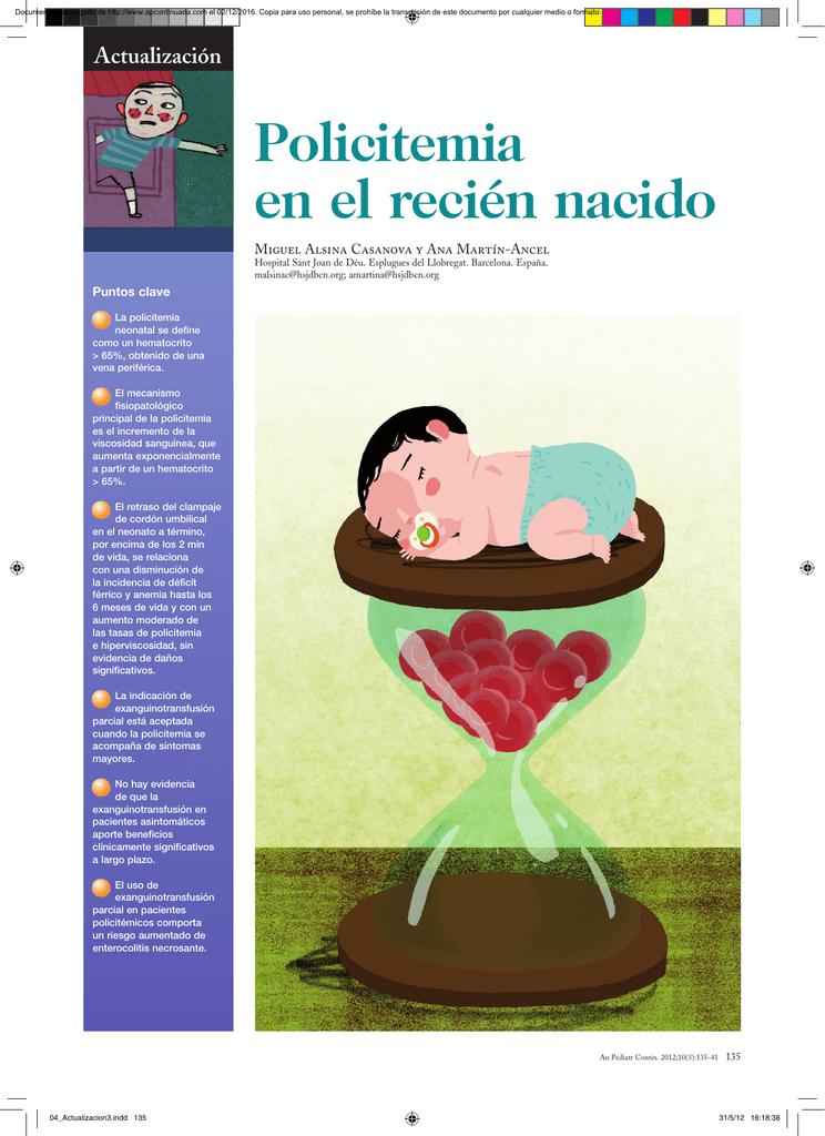 policitemia en diabetes de recién nacidos