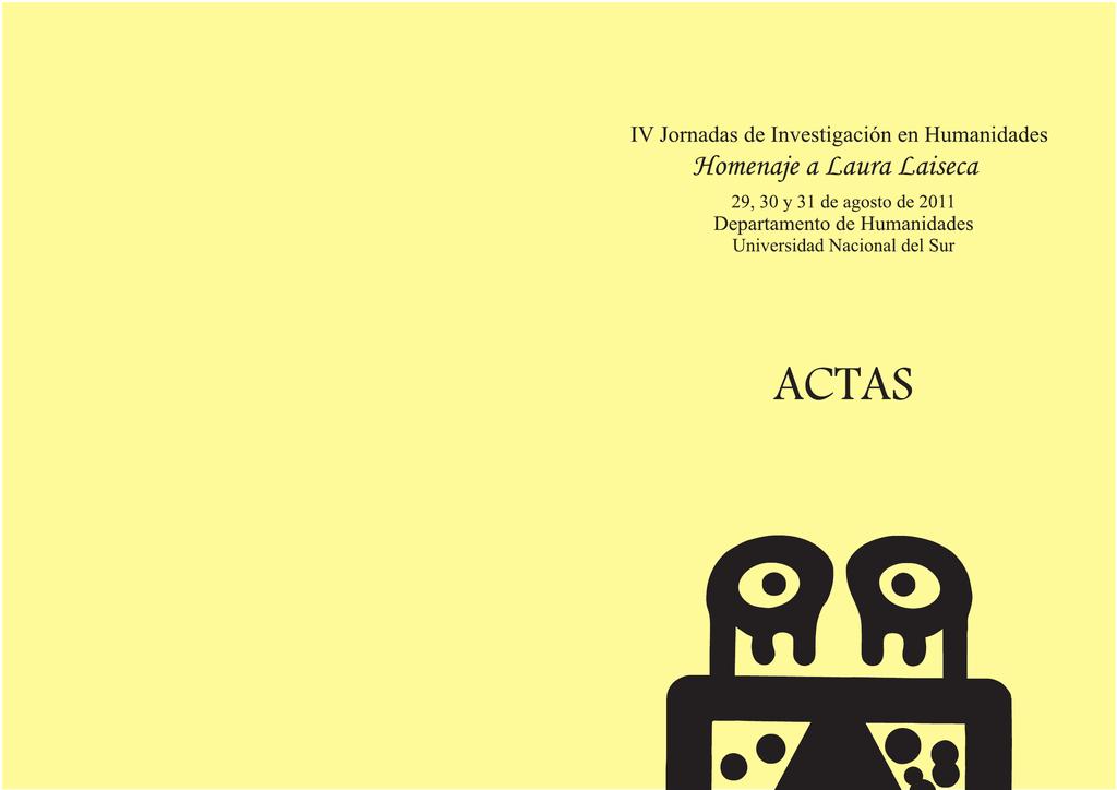 Actas - Jornadas - Universidad Nacional del Sur