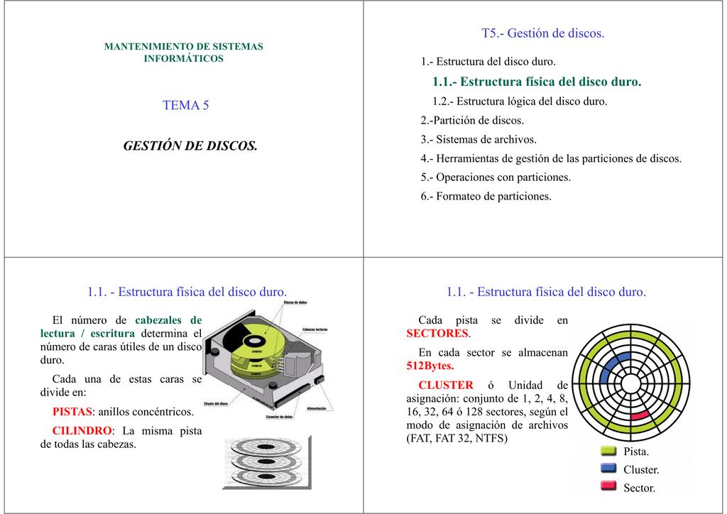 Microsoft Powerpoint T5 Gesti 363n De Discos Ppt Modo De