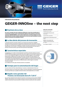 GEIGER-INNOline – the next step