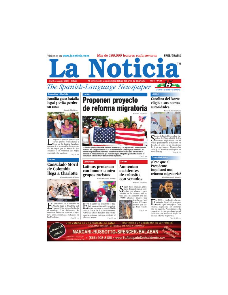 Proponen proyecto de reforma migratoria - La Noticia