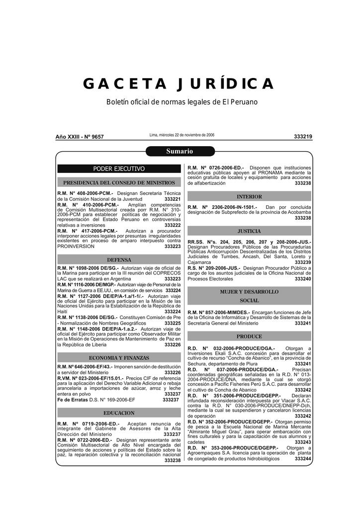 1ff501bcf49f GACETA JURÍDICA Boletín oficial de normas legales de El Peruano Lima