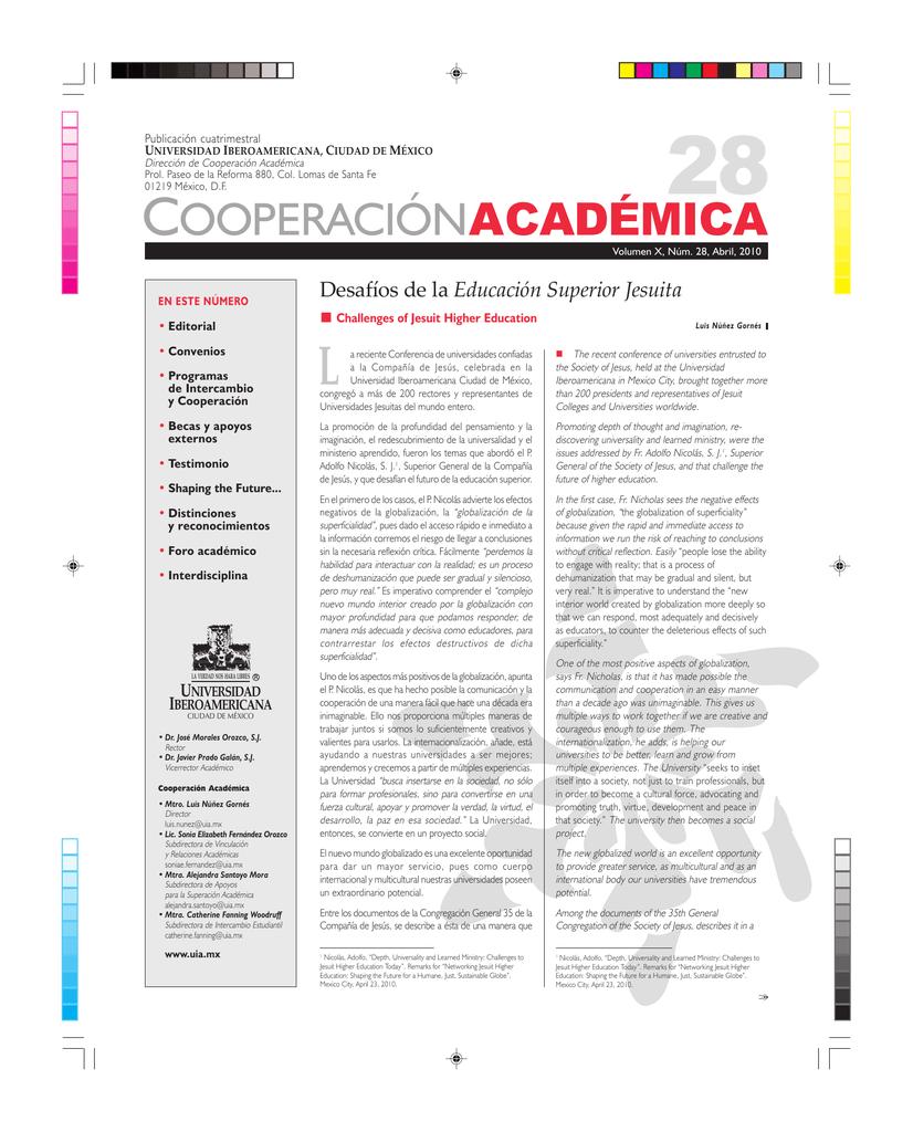 cooperaciónacadémica - Universidad Iberoamericana