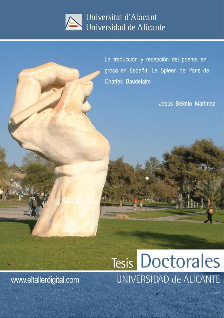 La Traducción Y Recepción Del Poema En Prosa En España Le