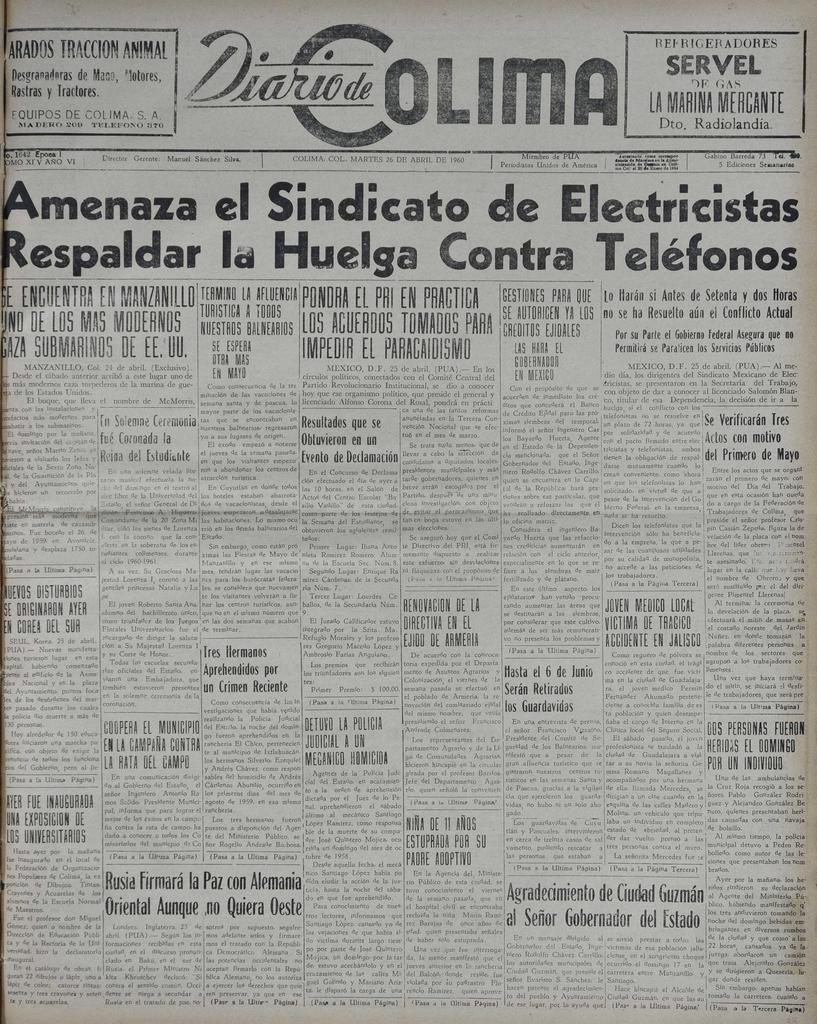 LA MARINA MFflCANTE Amenaza el Sindicato ` Electricistas