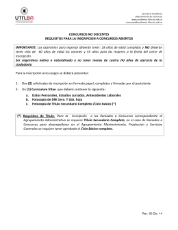 Requisitos de Inscripción Concursos Abiertos