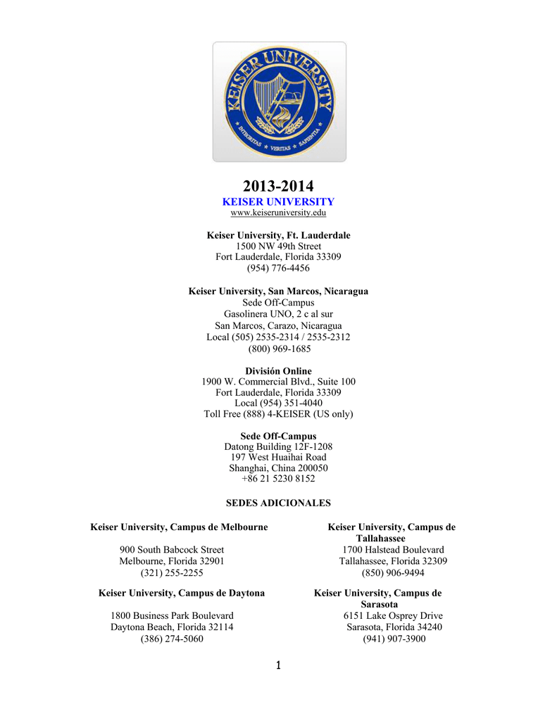 Keiser University Master Book List 2015