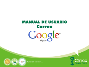 MNUAL DE USUARIO GOOGLE APPS