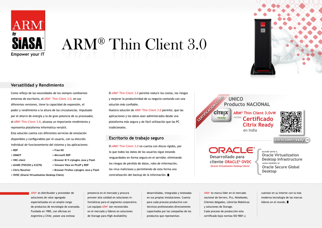 ARM® Thin Client 3 0 ARM Thin Client 3 0