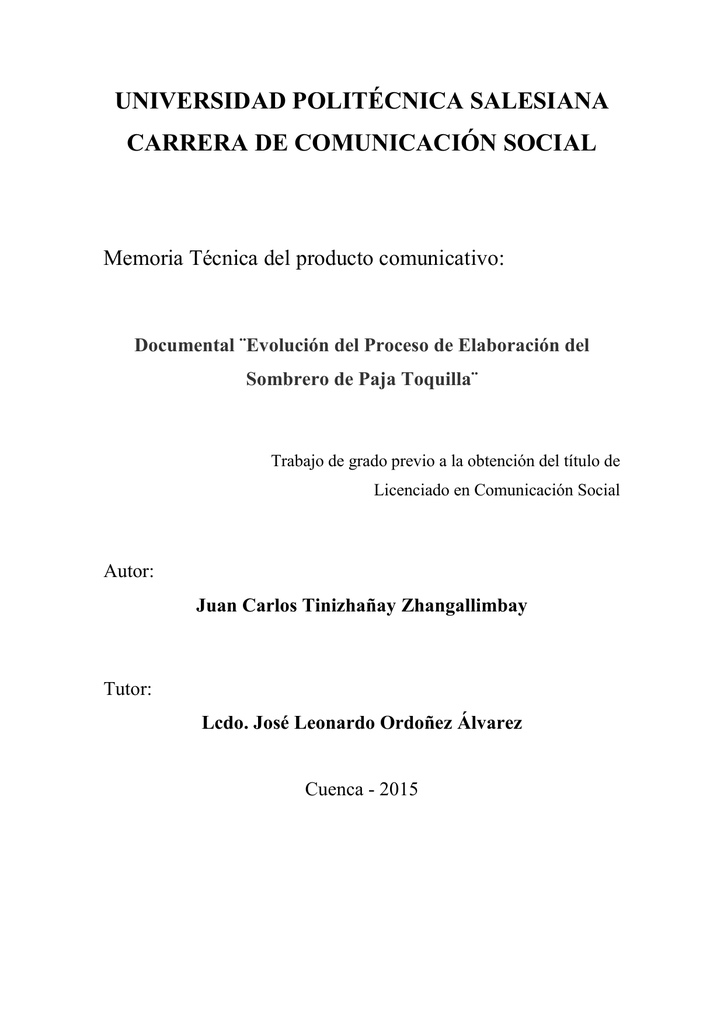 Evolución del Proceso de Elaboración del Sombrero de Paja Toquilla a5c7b451eb6