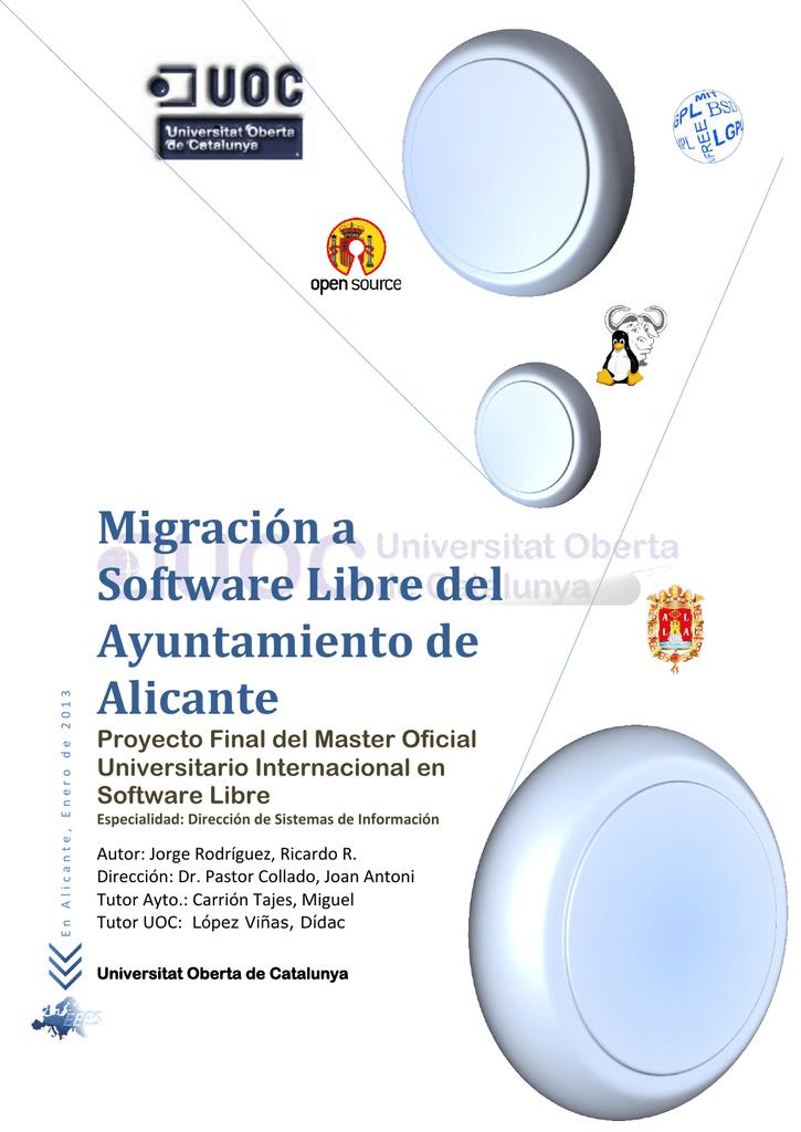Migración a Software Libre del Ayto  de Alicante