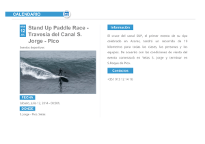 Stand Up Paddle Race - Travesía del Canal S. Jorge