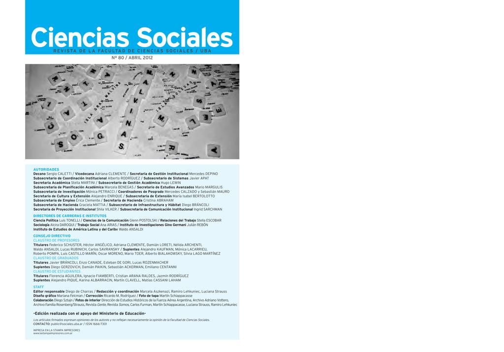 Dossier - Facultad de Ciencias Sociales