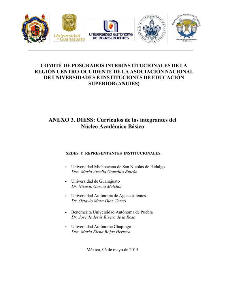 ANEXO 3. DIESS - Benemérita Universidad Autónoma de Puebla