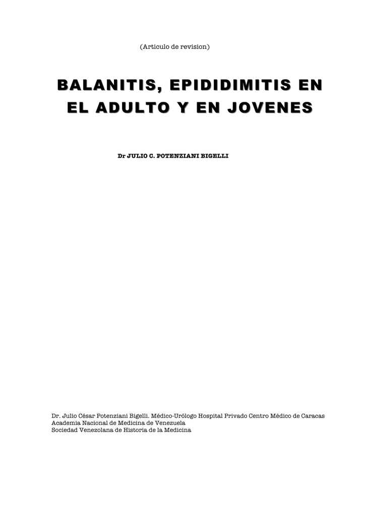 causa de epididimitis y prostatitis