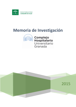 Memoria 2015 - Hospital Universitario Virgen de las Nieves