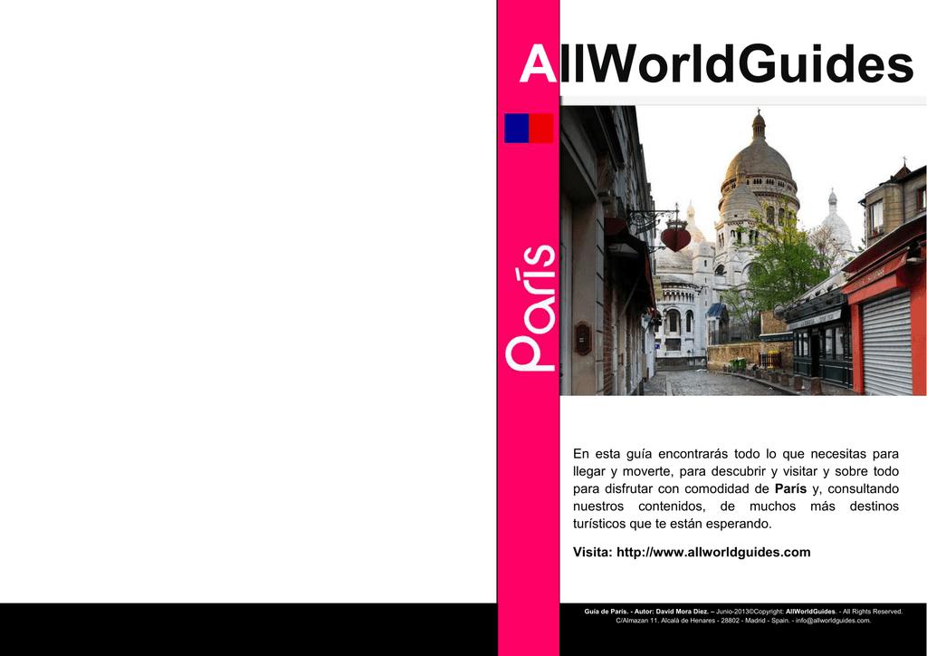 guia de paris booklet