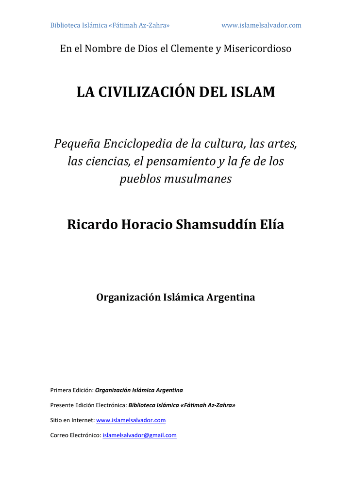 enciclopedia islamica