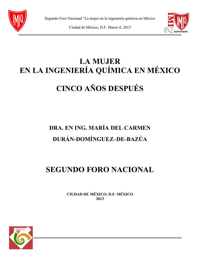 Segundo Foro Nacional, La mujer en la Ingeniería Química en México.